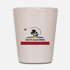 Flag of South California Shot Glass