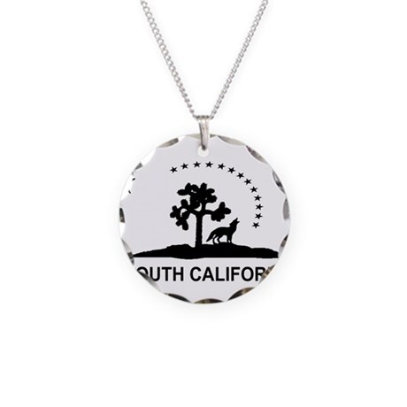 South California Necklace Circle Charm