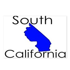 South California Blue State Postcards (Package of