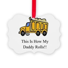 Cute Dump truck Ornament