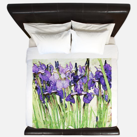 Irises King Duvet