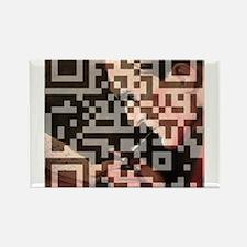 Sherlock Holmes QR Art Rectangle Magnet