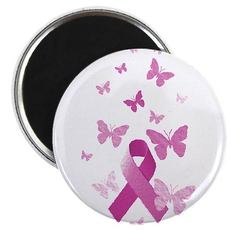 """Pink Awareness Ribbon 2.25"""" Magnet (10 pack)"""