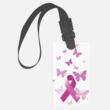 Pink Awareness Ribbon Luggage Tag