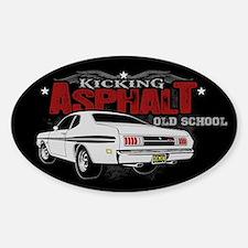 Kicking Asphalt - Demon Sticker (Oval)