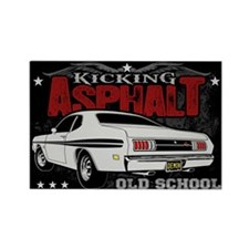 Kicking Asphalt - Demon Rectangle Magnet