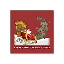 Schmidt House Cartoon Christmas Square Sticker 3&q