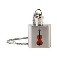 ViolaAlone.png Flask Necklace
