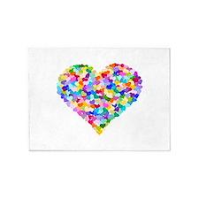 Rainbow Heart of Hearts 5'x7'Area Rug