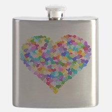 Rainbow Heart of Hearts Flask