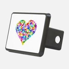 Rainbow Heart of Hearts Hitch Cover