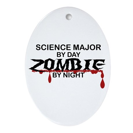Science Major Zombie Ornament (Oval)