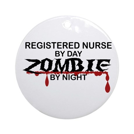 Registered Nurse Zombie Ornament (Round)