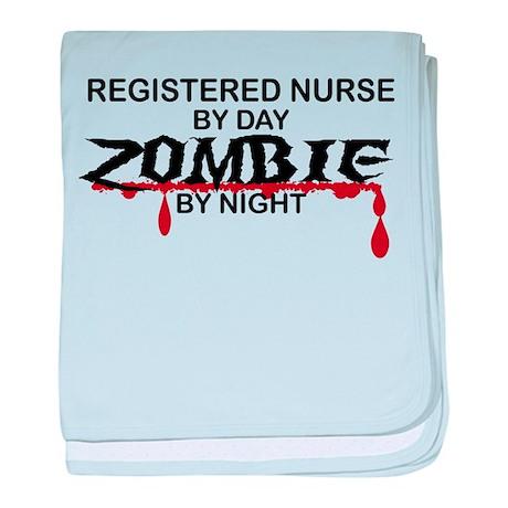 Registered Nurse Zombie baby blanket