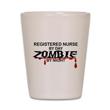 Registered Nurse Zombie Shot Glass