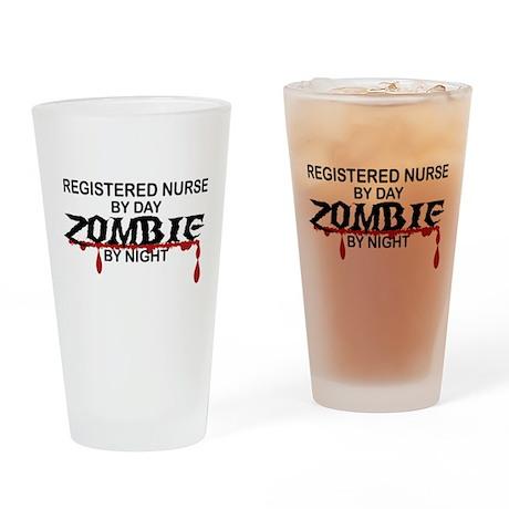 Registered Nurse Zombie Drinking Glass