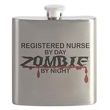 Registered Nurse Zombie Flask