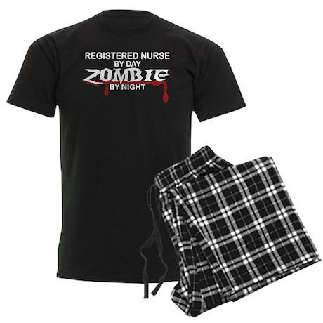 Registered Nurse Zombie Men's Dark Pajamas
