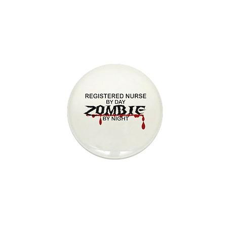 Registered Nurse Zombie Mini Button (10 pack)
