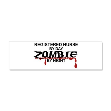 Registered Nurse Zombie Car Magnet 10 x 3