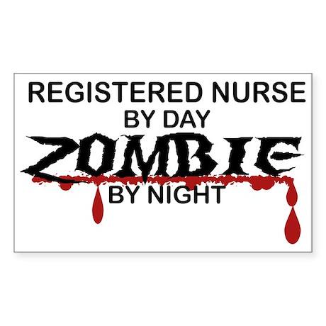 Registered Nurse Zombie Sticker (Rectangle)
