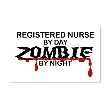 Registered Nurse Zombie 20x12 Wall Decal
