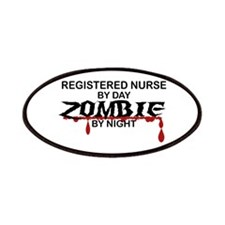Registered Nurse Zombie Patches