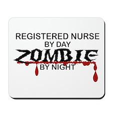 Registered Nurse Zombie Mousepad