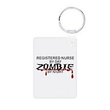 Registered Nurse Zombie Keychains