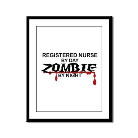 Registered Nurse Zombie Framed Panel Print