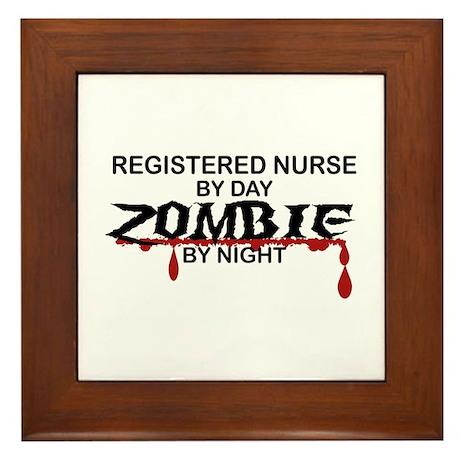 Registered Nurse Zombie Framed Tile