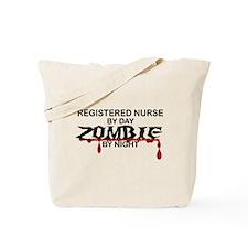 Registered Nurse Zombie Tote Bag