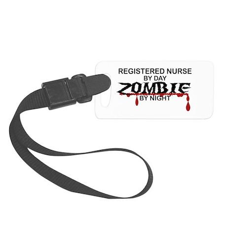 Registered Nurse Zombie Small Luggage Tag