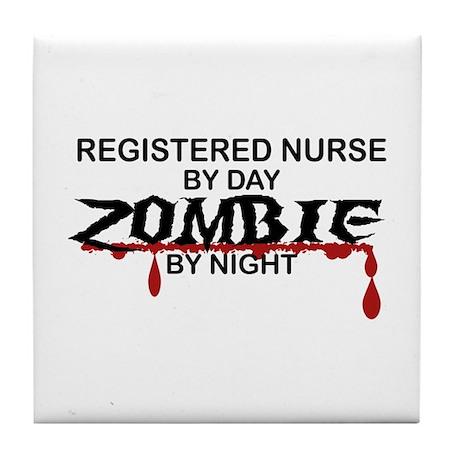 Registered Nurse Zombie Tile Coaster