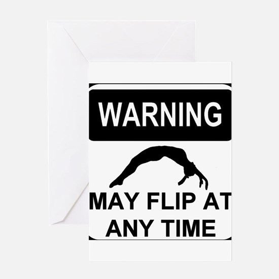 Warning may flip Greeting Card