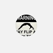 Warning may flip Mini Button (10 pack)