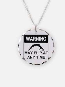 Warning may flip Necklace