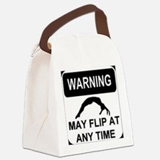 Warning may flip Canvas Lunch Bag
