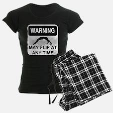 Warning may flip Pajamas