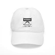 Warning may flip Baseball Baseball Cap