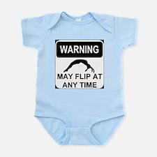 Warning may flip Infant Bodysuit