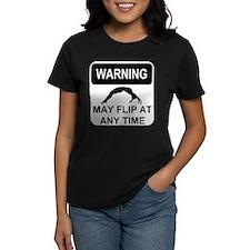 Warning may flip Tee