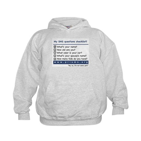 SMS Questions Kids Hoodie