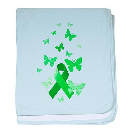 Green Awareness Ribbon baby blanket