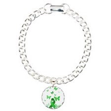 Green Awareness Ribbon Bracelet