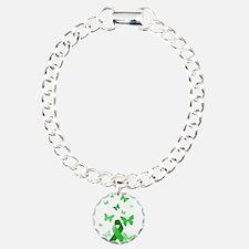 Green Awareness Ribbon Bracelet