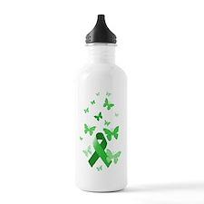 Green Awareness Ribbon Water Bottle