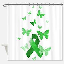 Green Awareness Ribbon Shower Curtain