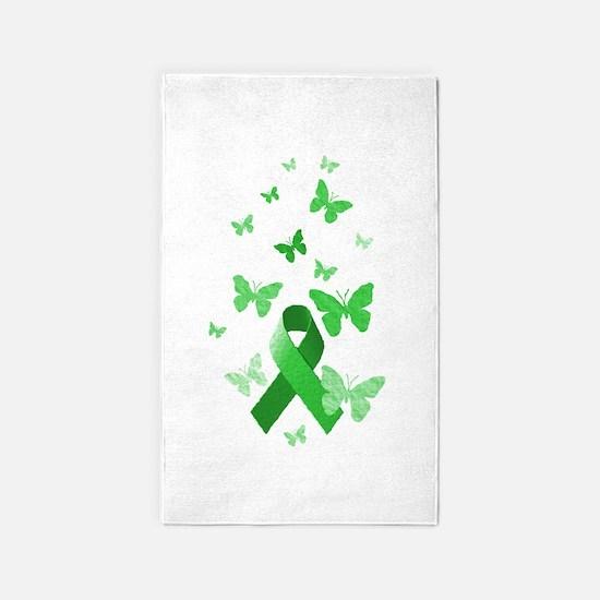 Green Awareness Ribbon 3'x5' Area Rug