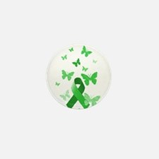 Green Awareness Ribbon Mini Button (10 pack)
